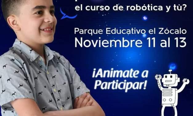 Se adelanta convocatoria para el curso en robótica para niños