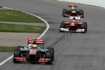 Hamilton, Alonso y Vettel