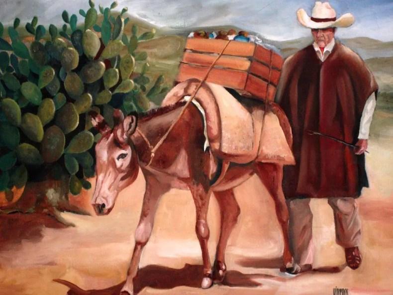 Arrieros somos y en el camino andamos. Imagen de http://www.artelista.com/obra/5392706042502730-arriero.html Autor: Sergio Viveros Patiño