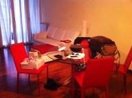 salón y mesa comedor