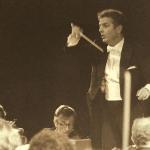 1985:Daniel Barenboim en la Plaza Porticada, la Plaza Mayor de la Música en España