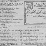 1898: Selectos vinos Abraham Otero.Calle San Francisco, 1