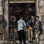 JOSÉ GUTIÉRREZ SOLANA: Taberna en Santander