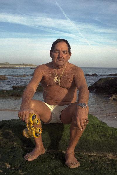 osé Sanz Tejera, Cioli, en la playa de la Magdalena. PABLO HOJAS