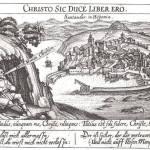 Grabado de Santander,copia del realizado por G. Braun en 1575