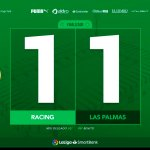 Racing 1 – Las Palmas 1: sin levantar cabeza