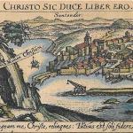 Vista de Santander del siglo XVII de Daniel Meisner