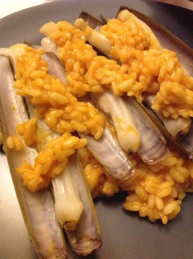 arroz cremoso con navajas