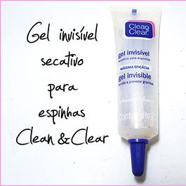 Testei: Gel Secativo de Espinhas Clean&Clear