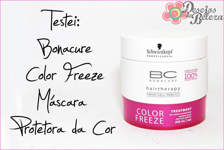máscara color freeze bonacure protetora da cor