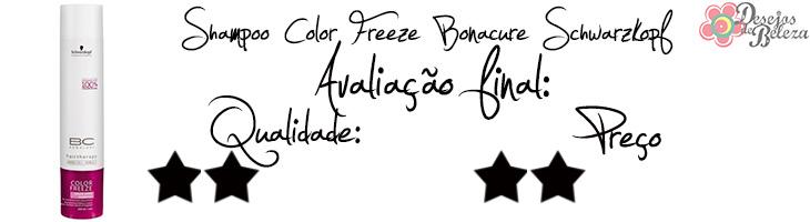 shampoo color freeze bonacure avaliação final
