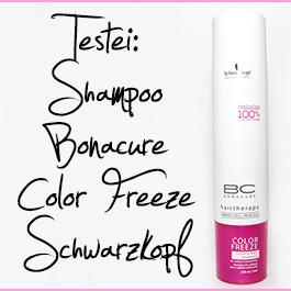 Testei: Shampoo Bonacure Color Freeze Schwarzkopf (Protetor da Cor sem sulfatos)