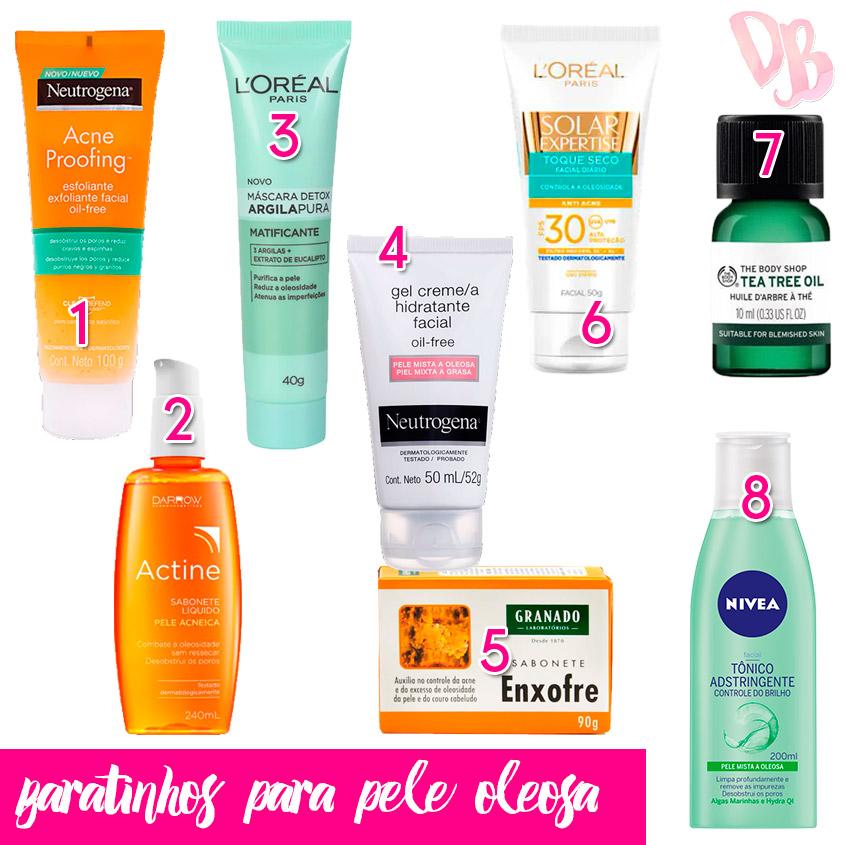 pele oleosa produtos baratinhos