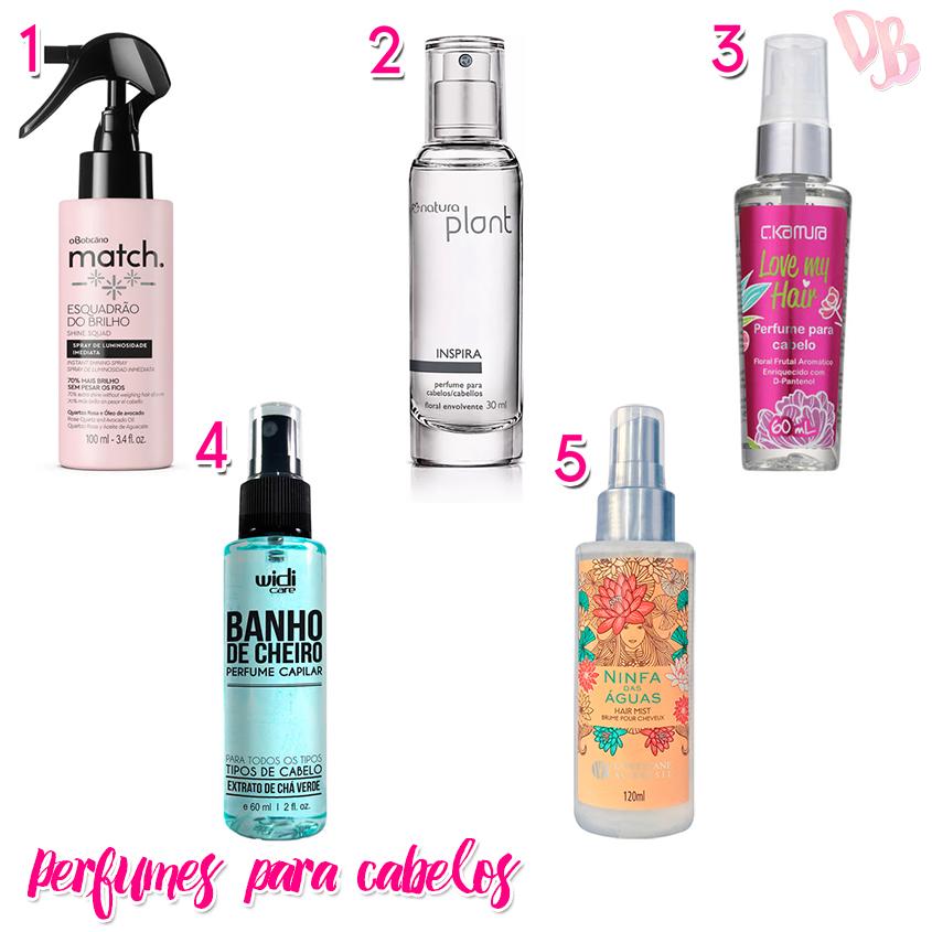perfumes para cabelos seleção