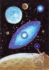 Eva cosmica pictura din anul 2001