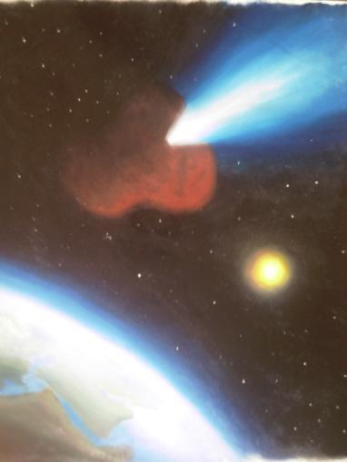 asteroidul - pictura ulei pe panza