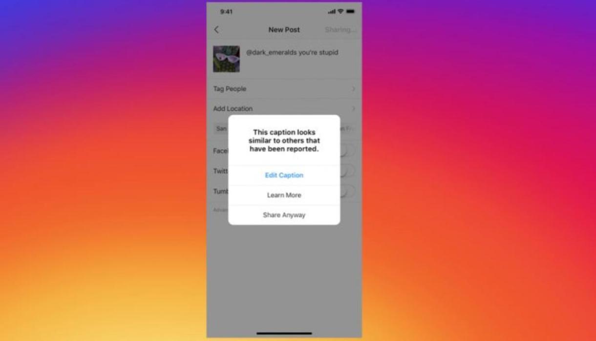 Instagram te notificara antes de enviar un mensaje si determina que integra elementos de acoso