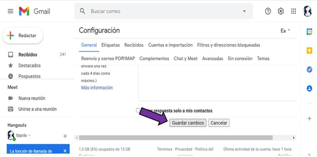 desactivar la redacción inteligente en Gmail