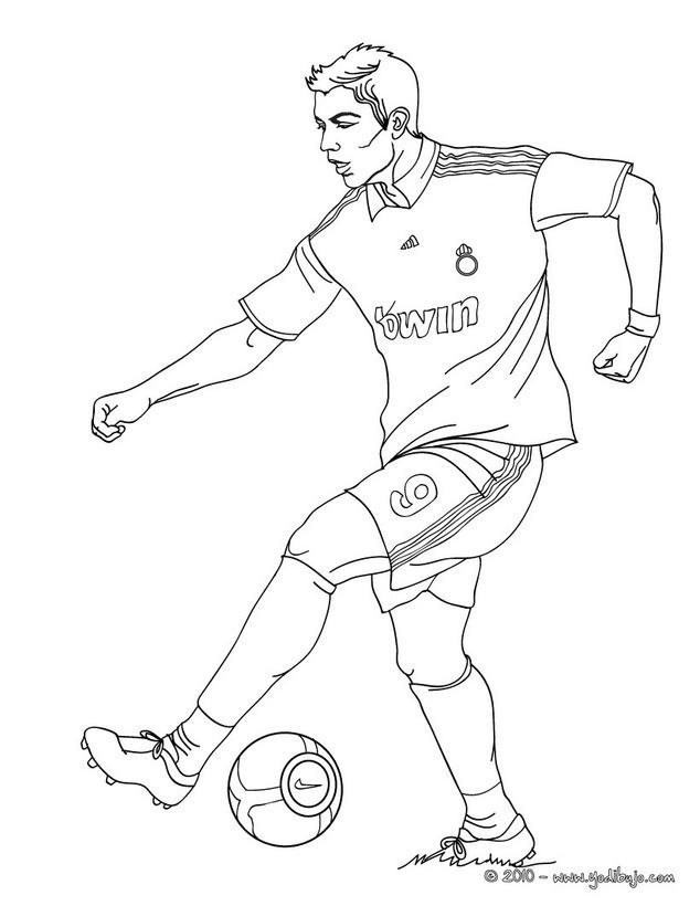 Desenhos para colorir do Cristiano Ronaldo