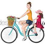 Bicicleta Mãe e Filha