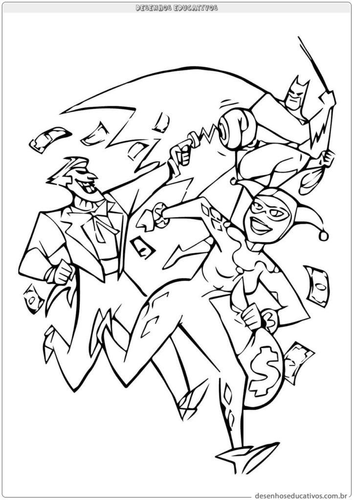 Desenhos Para Colorir Batman Homem Morcego