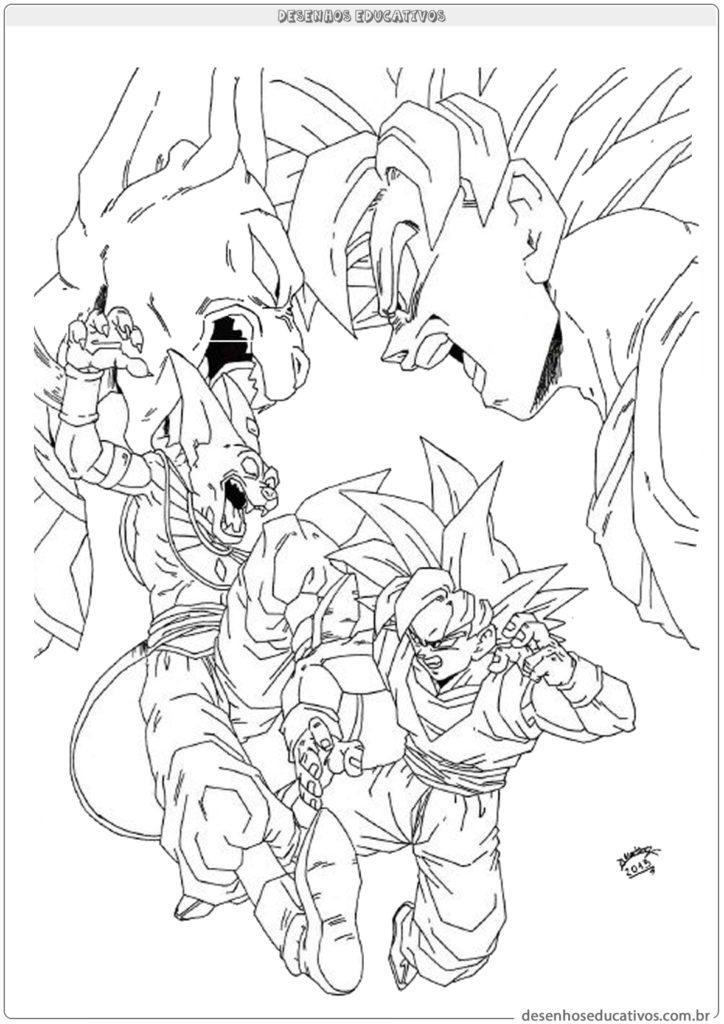Imagens De Dragon Ball Z Super Paa Colorir Lifeanimes Com