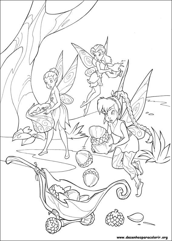 Desenho De Tinker Bell Para Colorir