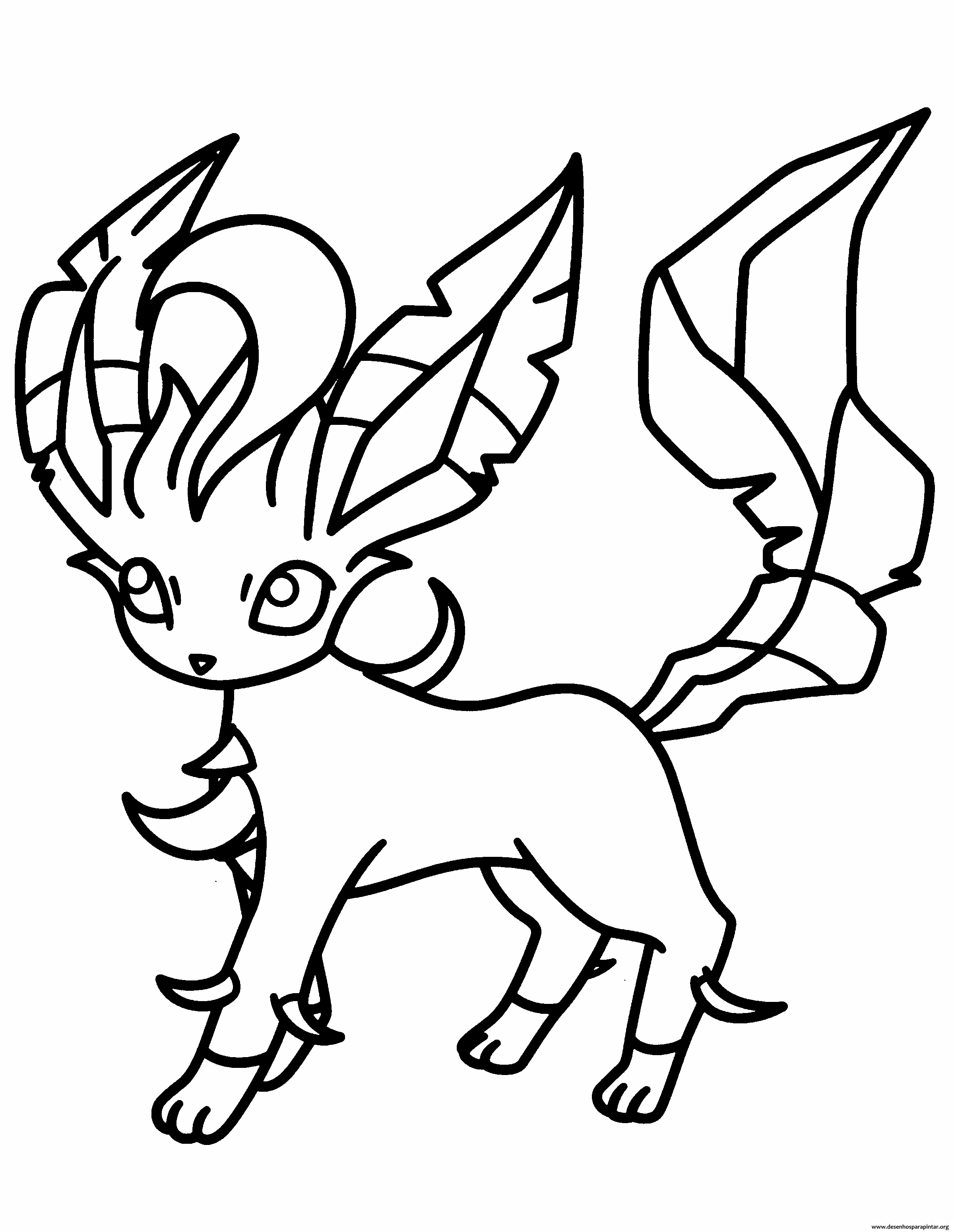 pokemon coloring page glaceon eeveelutions glaceon coloring page