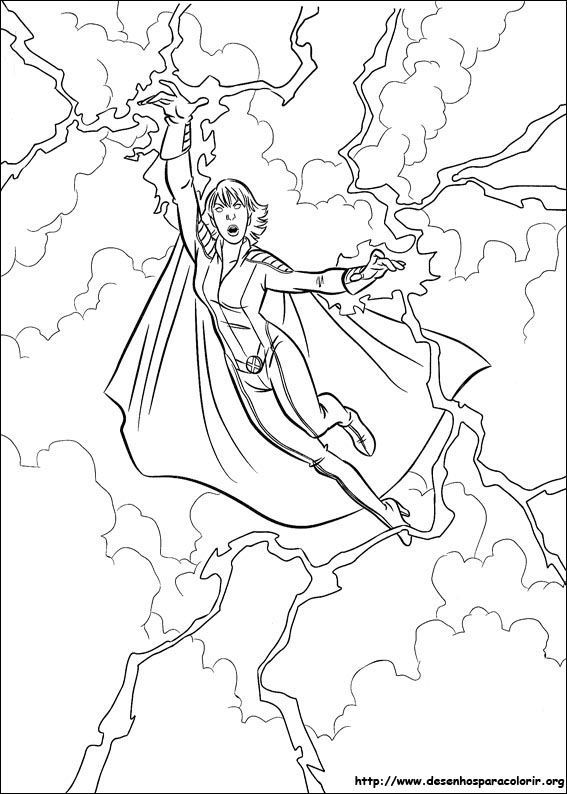 Superhero Printable Coloring Pages X Men