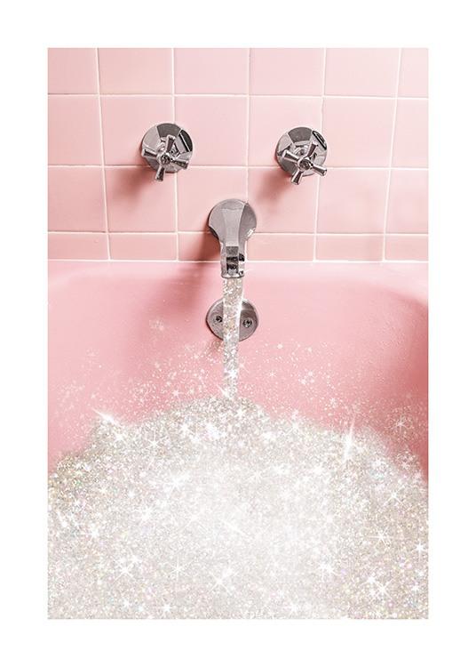 glitter bath affiche