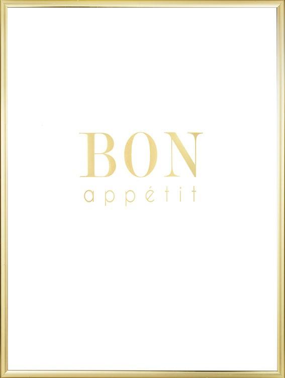 bon appetit gold poster