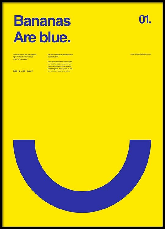 bananas are blue poster