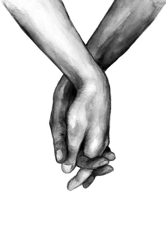 Watercolor Hands No1 Poster