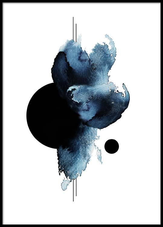 Aquarelle Shape Poster