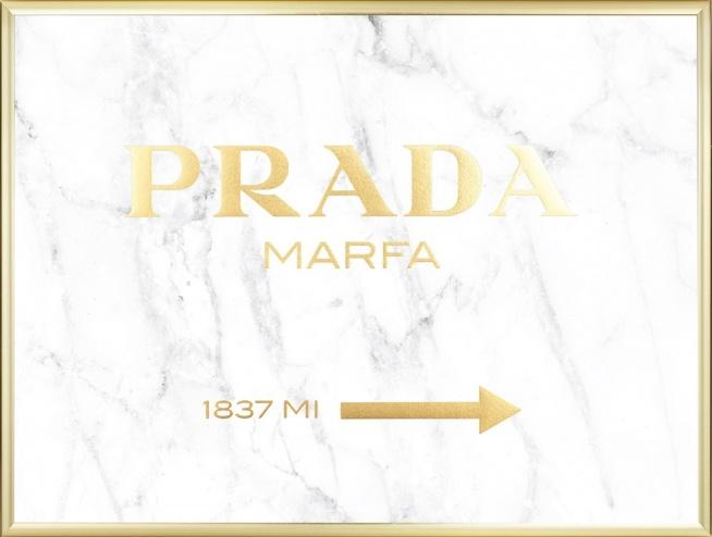 prada gold marble poster
