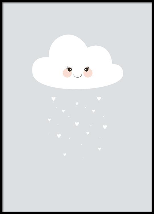 Affiche Pour Enfants Avec Nuage Poster Pour Enfant Et
