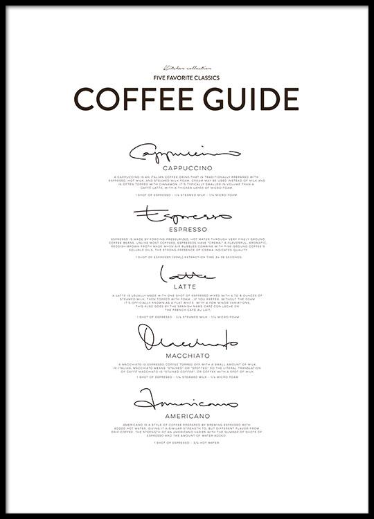 Five Coffee Classics, Posters