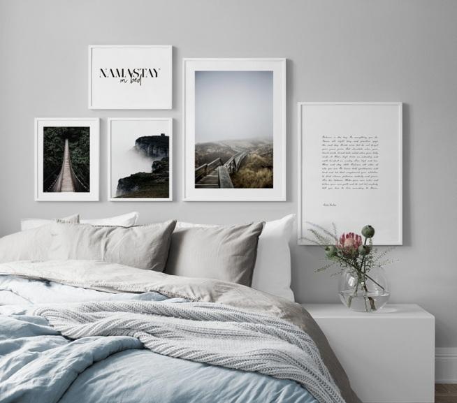 d9b4f6e5654086 Fotowand in de slaapkamer Inrichting en posters voor de