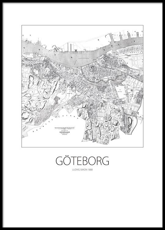 Karta Over Sverige Svart Vit