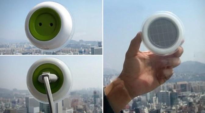 Plugue solar que gera eletricidade através da energia solar