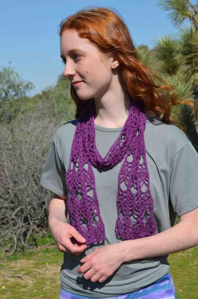 Royalty Scarf - fine yarn crochet pattern