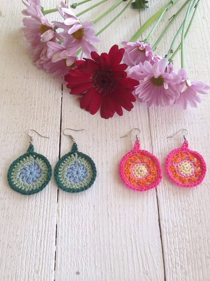 Quick And Easy Crochet Earrings Pattern