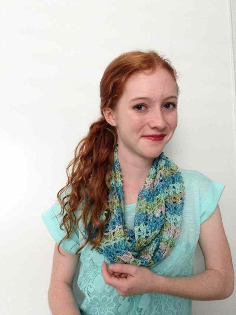 winter blossom scarf—free crochet pattern