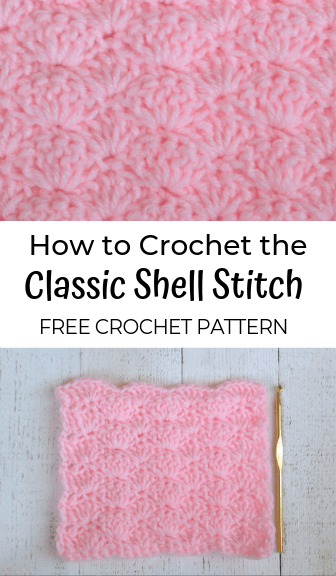 how to crochet the classic shell stitch—free crochet pattern