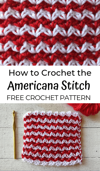 How to crochet the Americana Stitch