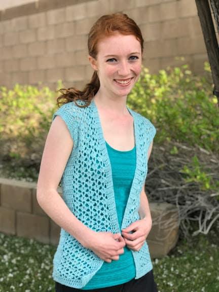 Summer Breeze Lacy Vest Crochet Pattern