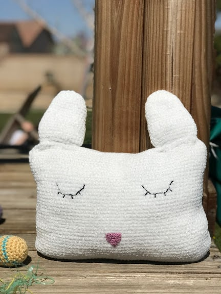 Velveteen Rabbit Pillow—FREE Easter Crochet Pattern