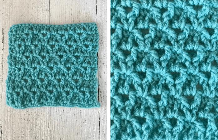 Textured Raised Crochet V-Stitch