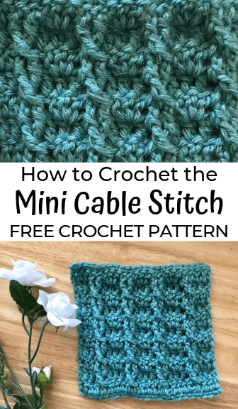 How to Crochet the Mini Cable Stitch