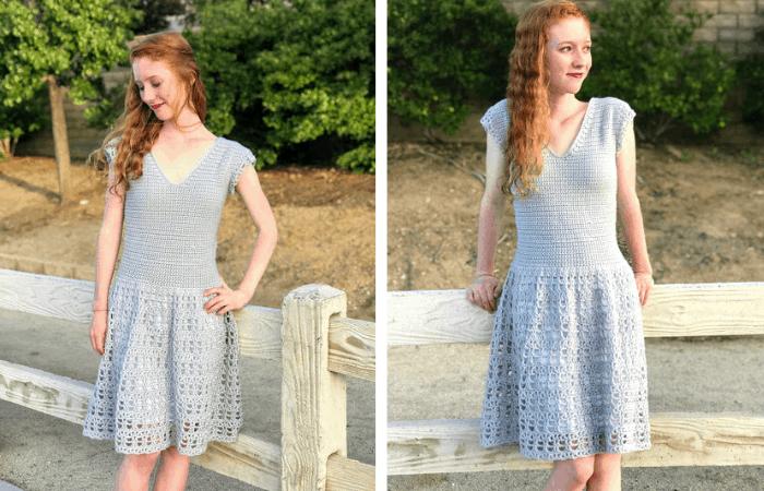 Parisian Dress - lacy summer crochet dress